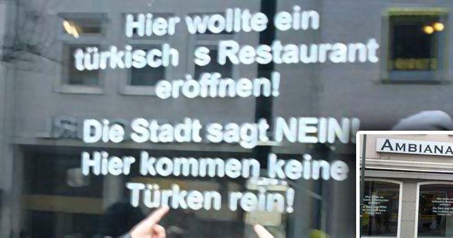 Hier kommen keine Türken rein!