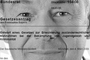 Günther Beckstein - Gesetzesänderungen im AufenthG