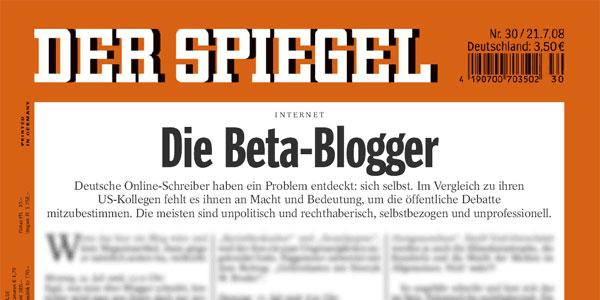 Der Spiegel (Nr. 30/2008) - Die Beta-Blogger