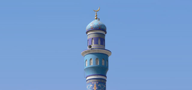 Die blaue Minarette in Oman - Foto: flickr.de - Larsz
