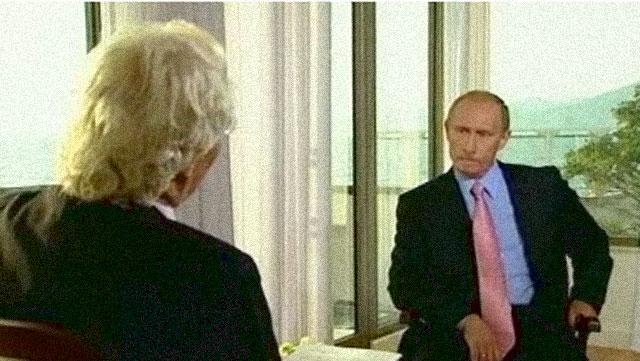 Wladimir Putin im Interview mit Thomas Roth - Foto: Interviewausschnitt WDR