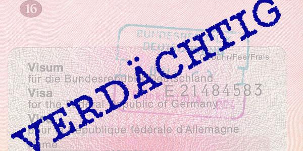 Verdächtig - Visa-Warndatei