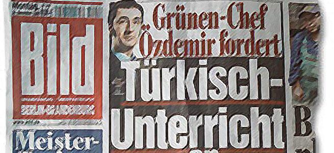 Cem Özdemir auf der Titelseite der Bildzeitung vom 24.11.2008