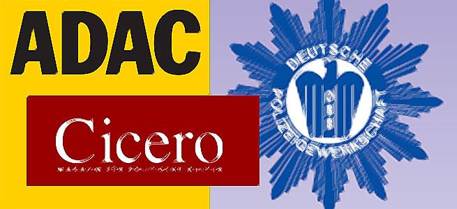 ADAC Motorwelt, Cicero, Polizeigewerkschaft