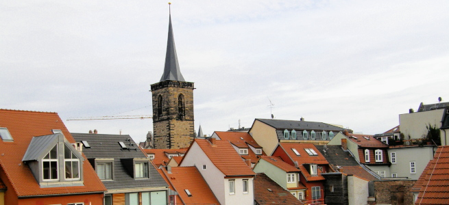 Ausblick auf Erfurt aus meinem Zimmer