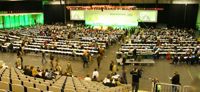 Der Sall füllt sich - Grünen Parteitag in Erfurt