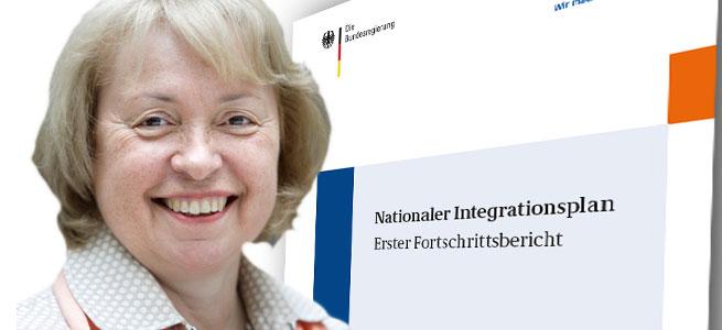 Staatsministerin Maria Böhmer - Nationaler Integrationsbericht